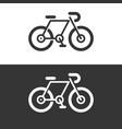 bicycle bike icon logo symbol vector image