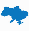 blank blue similar ukraine map isolated vector image vector image