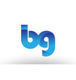 blue gradient bg b g alphabet letter logo vector image vector image