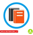 Books Eps Rounded Icon vector image