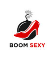boom sexy logo vector image