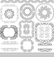 borders frames and ornaments vector image vector image