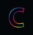 c letter rainbow alphabet logo abstract colorful