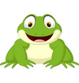 cartoon happy frog isolated on white background vector image