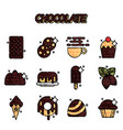 chocolate cartoon concept icons vector image