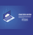 cloud data storage web hosting isometric server vector image vector image