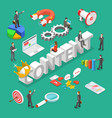 content is king flat isometric concept vector image vector image