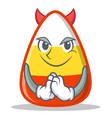 devil candy corn character cartoon vector image