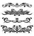 dividers floral decorative ornaments vector image vector image