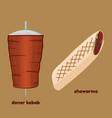 doner kebab and shawarma vector image vector image