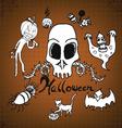 doodles Halloween on paper vector image vector image