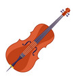 double bass musical instrument vector image