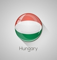 european flags set - hungary vector image