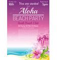 evening beach party sea poster traditional aloha vector image vector image