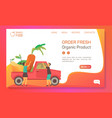 farm food vegetables and fruits shop web banner vector image vector image