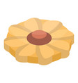 flower cookie icon isometric style vector image vector image