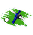 football with a player who pulls the ball vector image vector image