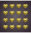 funny metal heart-shaped emoticons vector image