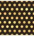 Geometric golden polka dot seamless pattern vector image vector image