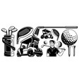 golf clipart vector image vector image