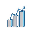 graphic stats report vector image