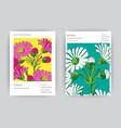 hand drawn close-up chrysanthemum flower artistic vector image vector image