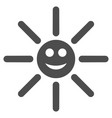 happy sun rays flat icon vector image