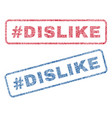 hashtag dislike textile stamps vector image vector image