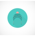 Hat icon in flat style vector image