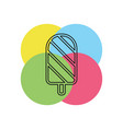 icecream icon - dessert object - sweet summer icon vector image