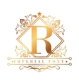 imperial font design vector image