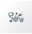 marketing research icon line symbol premium vector image