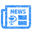 medical newspaper grunge icon vector image
