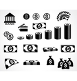 money symbols vector image vector image