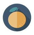 Orange flat icon with long shadow vector image