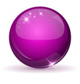 Pink glossy sphere vector image