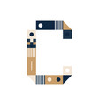 pixel art letter c colorful letter consist of vector image vector image