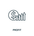 profit outline icon thin style design from vector image
