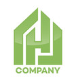 real estate and h letter logo vector image