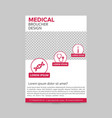 red and white medical flyer layout template vector image