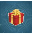 Retro Gift Box vector image vector image