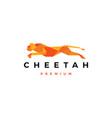 running cheetah tech geometric logo icon vector image vector image