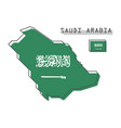 saudi arabia map and flag modern simple line vector image vector image