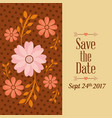 save the date flower natural dots decoration vector image vector image
