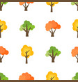 seamless pattern from autumn trees vector image vector image