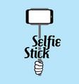 selfie stick vector image vector image
