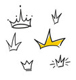 set crowns icons vector image