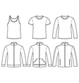 Singlet T-shirt Long-sleeved T-shirt Sweatshirts a vector image vector image