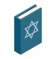 The Book of Judaism isometric 3d icon vector image vector image