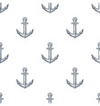 vintage anchor hand drawn seamless pattern vector image vector image